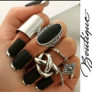Jewelry - CHAUV ✨New Retro Boho Silver Ring Set
